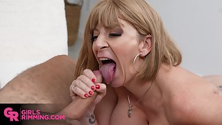 Amazing rimming with hot busty MILF Sara Jay