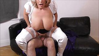 Camilla Fucks on the Sofa in White Chatelaine Promo