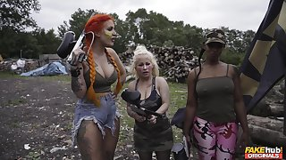 Hardcore shacking up with hot ass redhead slut Alexxa Vice in boots