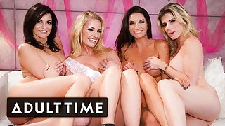Be nostalgic for Gang Hosts The HOTTEST Lesbian Foursome Ever!