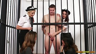 Video of a naked ladies' getting pleasured by Madlin Lieutenant and cops