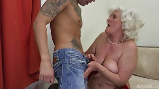 Blonde mature Judit Gali is the real master of resemble fuck nigh a toff