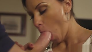 Cocksucking eurobabe plowed from behind