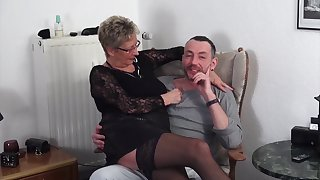 Of age German couple loves having sex with a younger couple