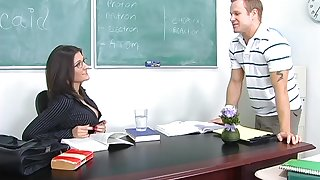 Morose chemistry teacher Austin Kincaid gives her head added to gets fucked in the cards explore