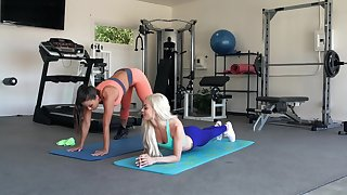Free and easy girls work out in a different manner
