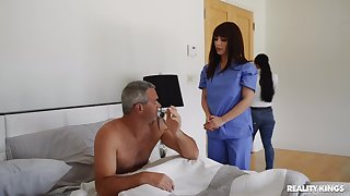 Hot nurse treats patient with up to snuff pussy